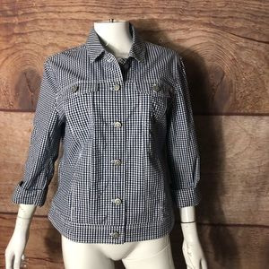 Peck & Peck Women's Jacket Size Large Checkered
